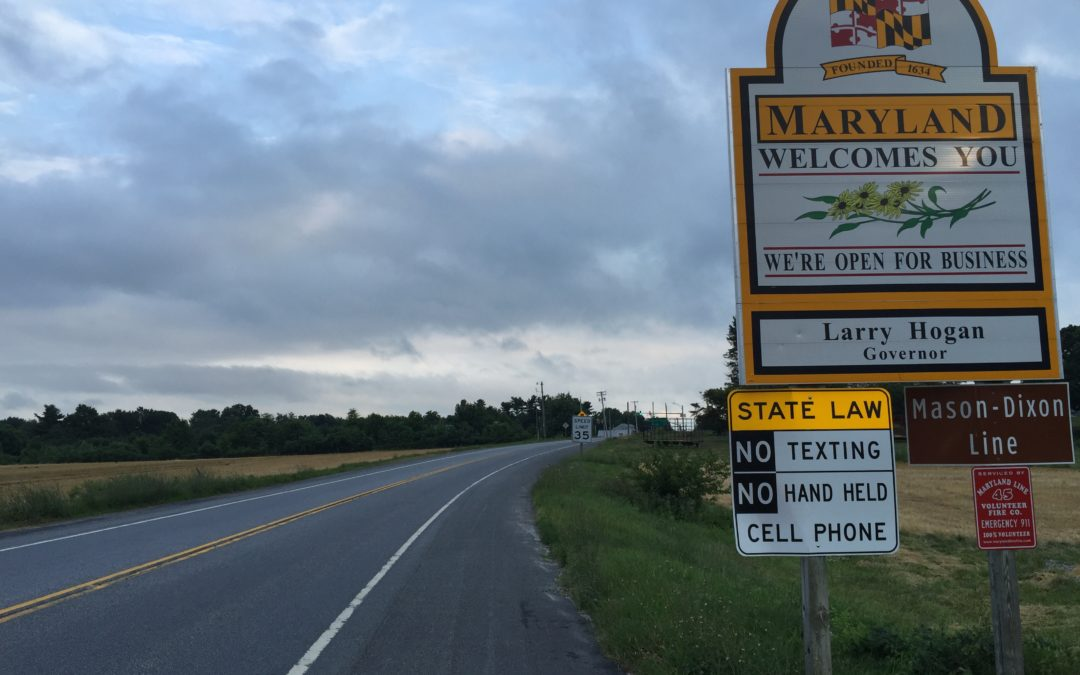 Maryland Sign DUI DWI OWI